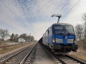First train under the ČD Cargo license in Germany
