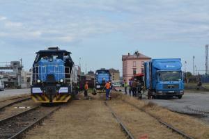 Re-railing of diesel locomotives - tactical exercise